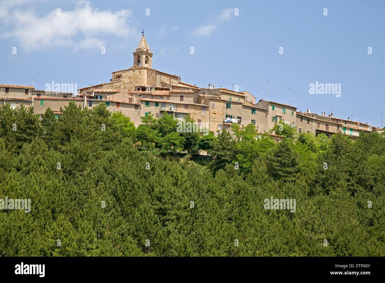 Europa, Italien, Toskana, Monticello Amiata Dorf Stockfoto
