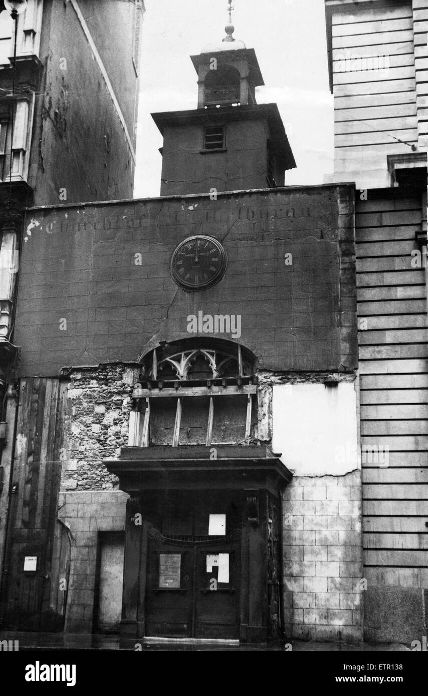 St Ethelburga--Jungfrau innerkirchliche Bishopsgate, London. 21. Juni 1933. Stockbild