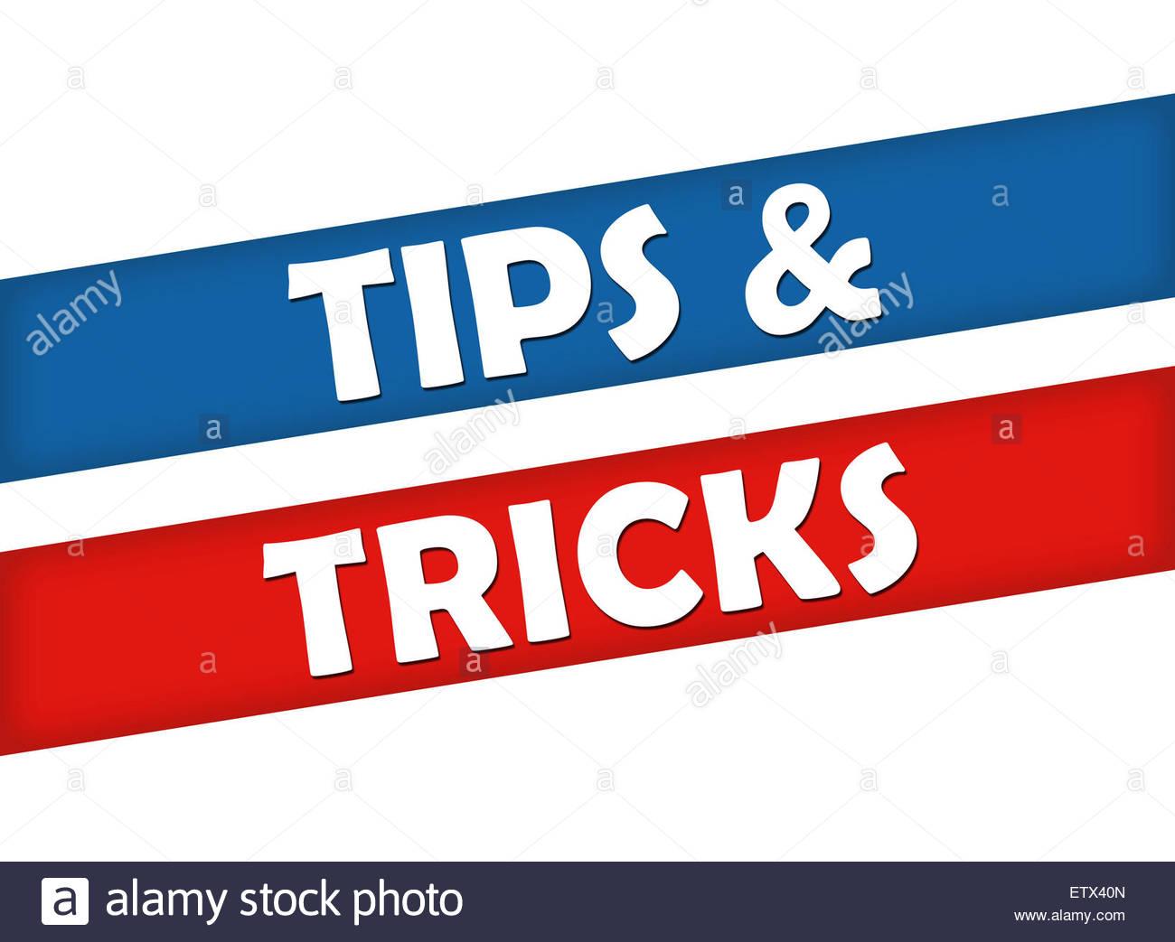 Tipps und TRICKS Stockbild