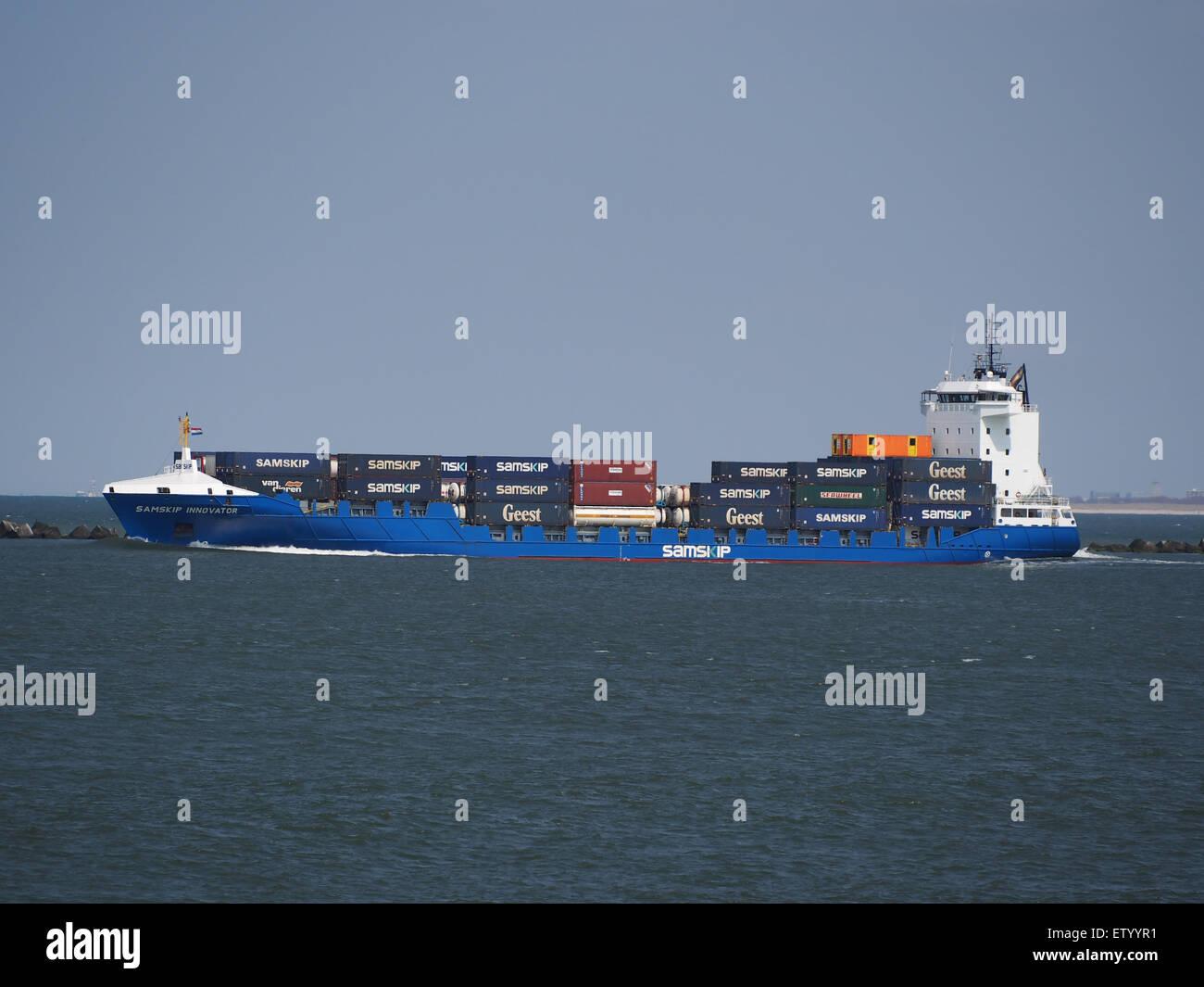 Samskip Innovator - IMO 9436214, Hafen von Rotterdam Stockbild