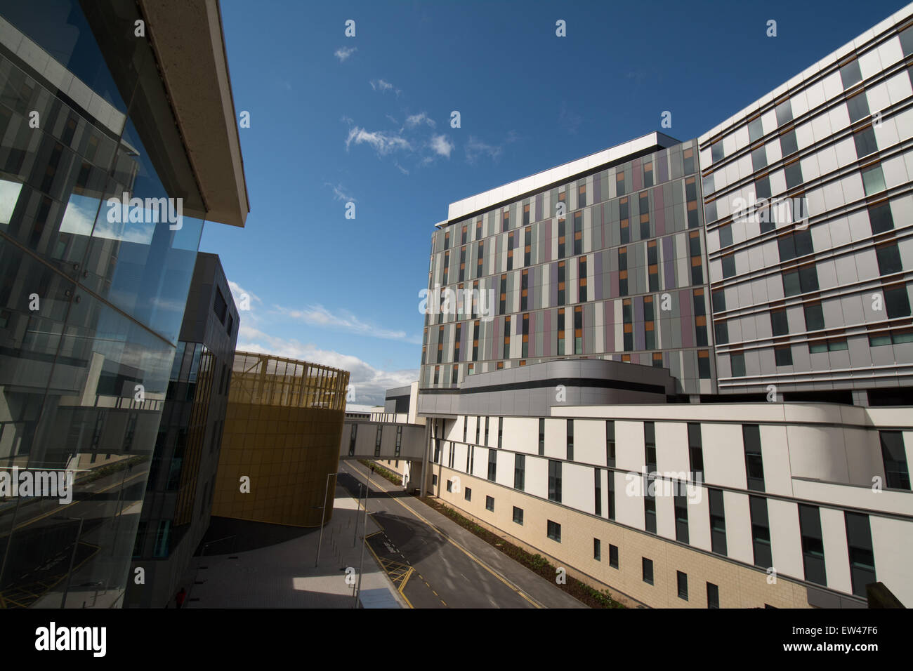 South Glasgow University Hospital Stockbild