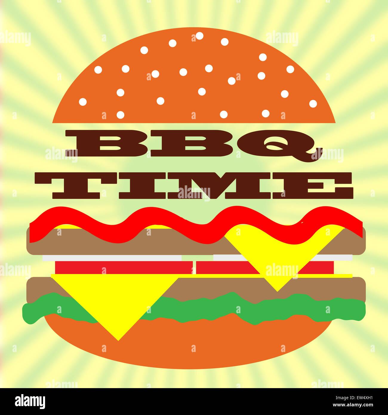 BBQ-Zeit. Stockbild