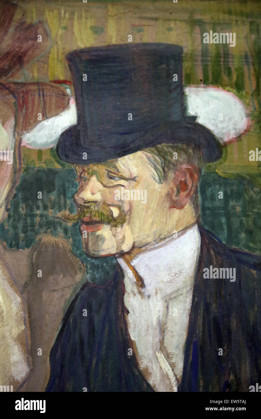 Henri de Toulouse-Lautrec (1864-1901). Der Engländer (William Tom Warrener, 1861-1934) im Moulin Rouge, 1892. Stockbild