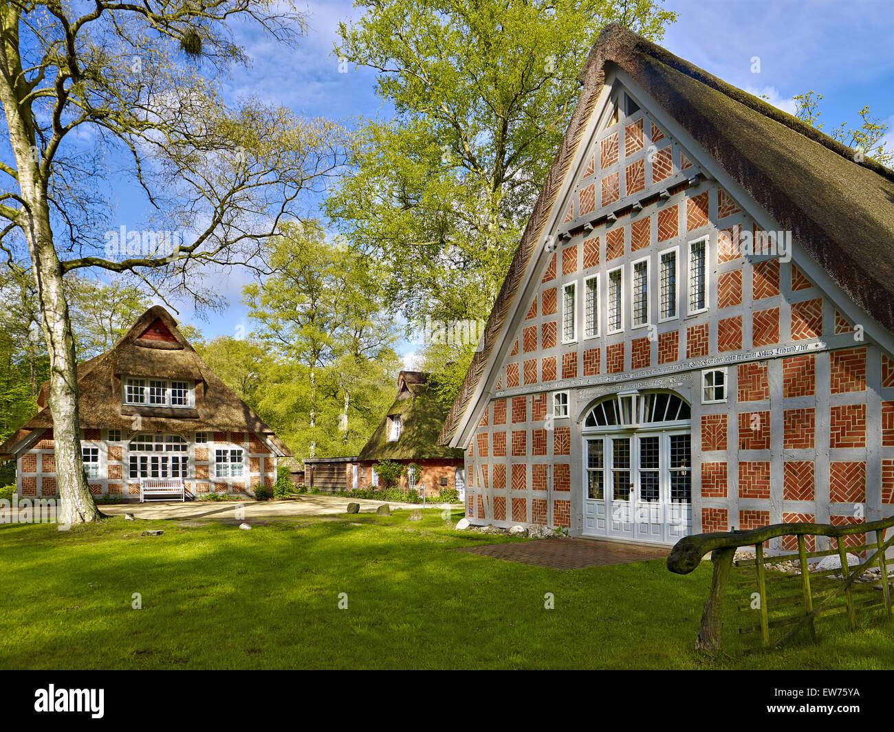 Haus Im Schluh in Worpswede Deutschland Stockfoto Bild