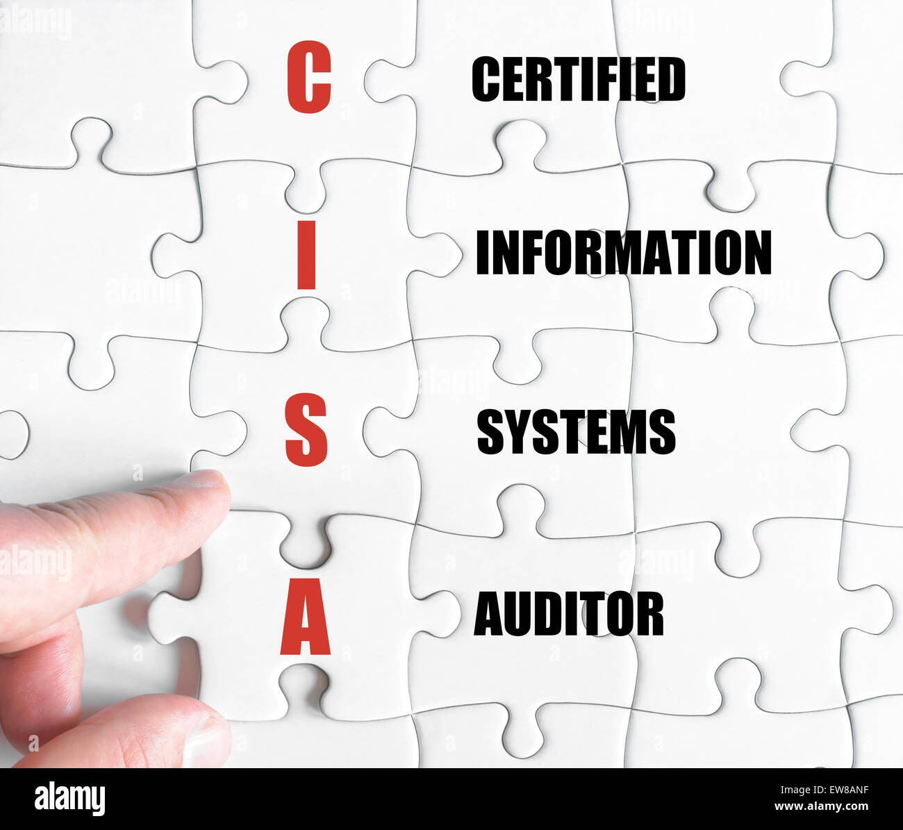 Konzept-Bild des Business Akronym CISA Certified Information Systems Auditor Stockbild