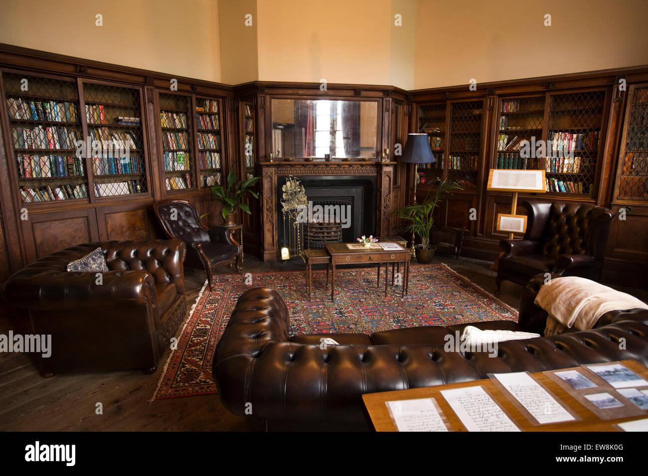 Irland, Co. Wexford, Ballyedmond, Brunnen Haus, Bibliothek Stockfoto ...