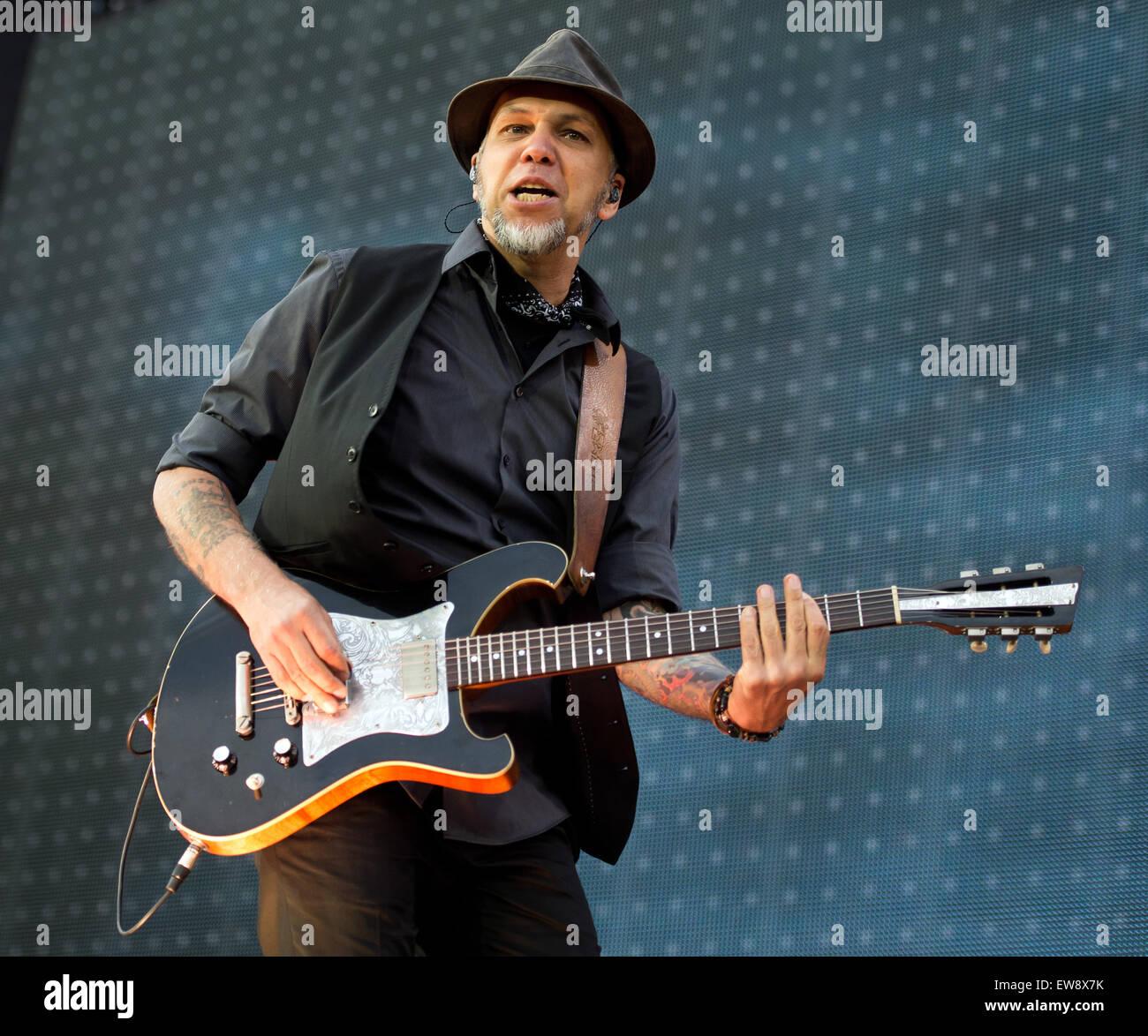 Hockenheim Deutschland 19 Juni 2015 Matthias Roehr Gitarrist