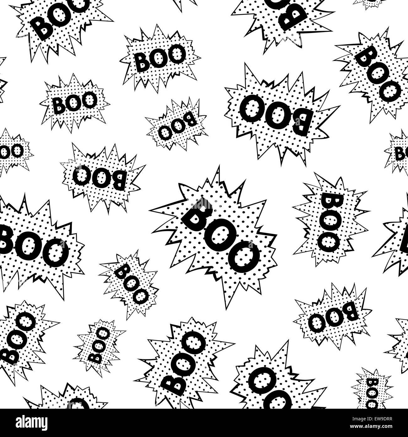 nur nahtloses muster der comic rede luftblasen mit wort boo vektor eps 8 - Hochzeitsrede Muster
