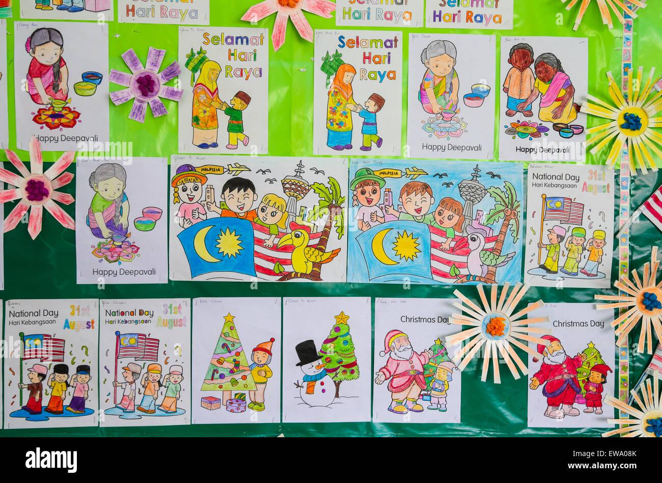 Kinder Färbung Arbeit am Kindergarten Kunst und Handarbeit Ecke ...