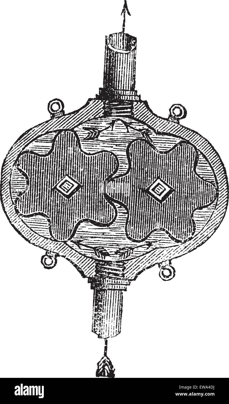 Zahnradpumpe, Vintage gravierten Abbildung. Trousset Enzyklopädie (1886-1891). Stockbild