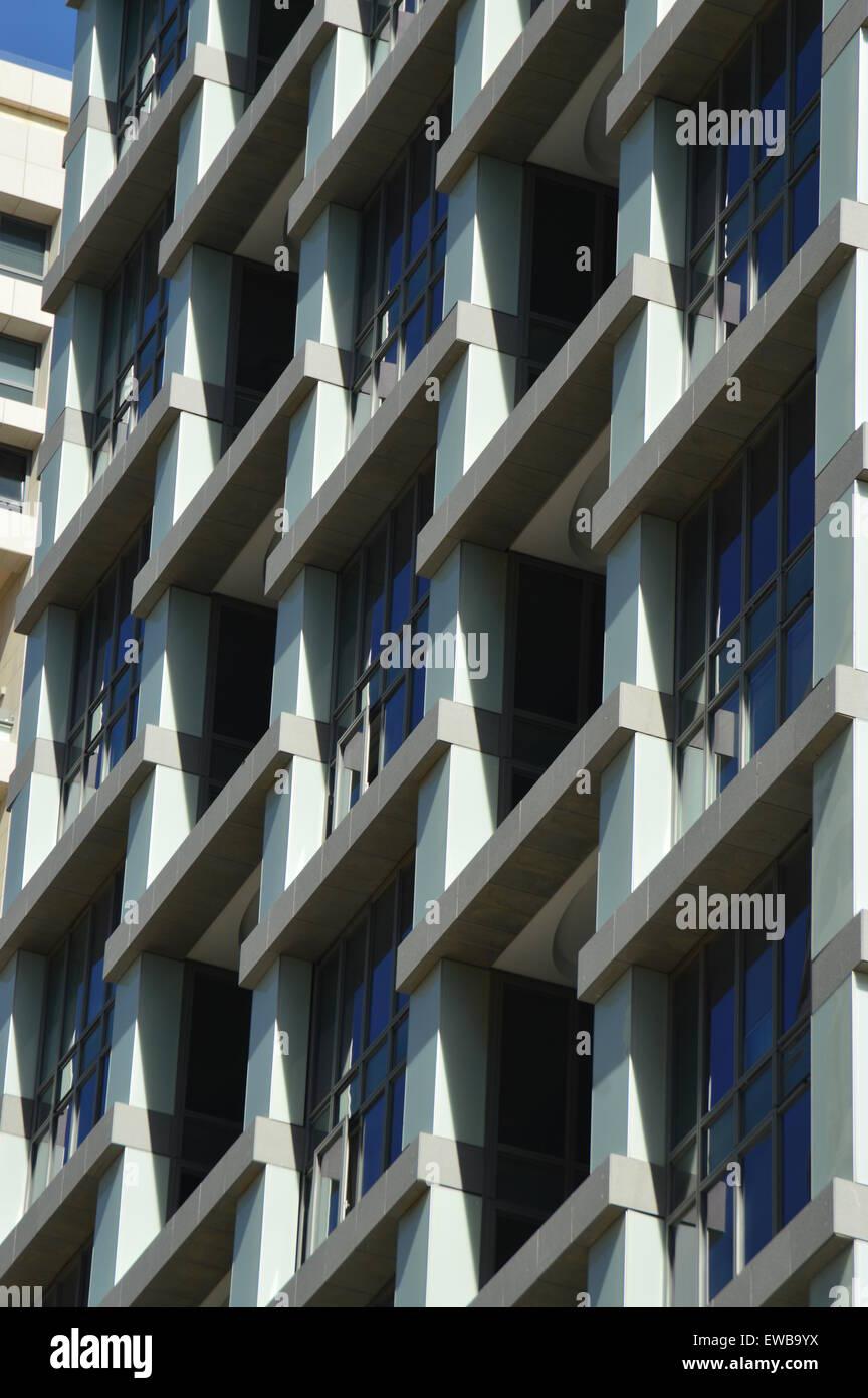 Abstrakt Architektur. Fotografiert in tel Aviv, Israel Stockbild