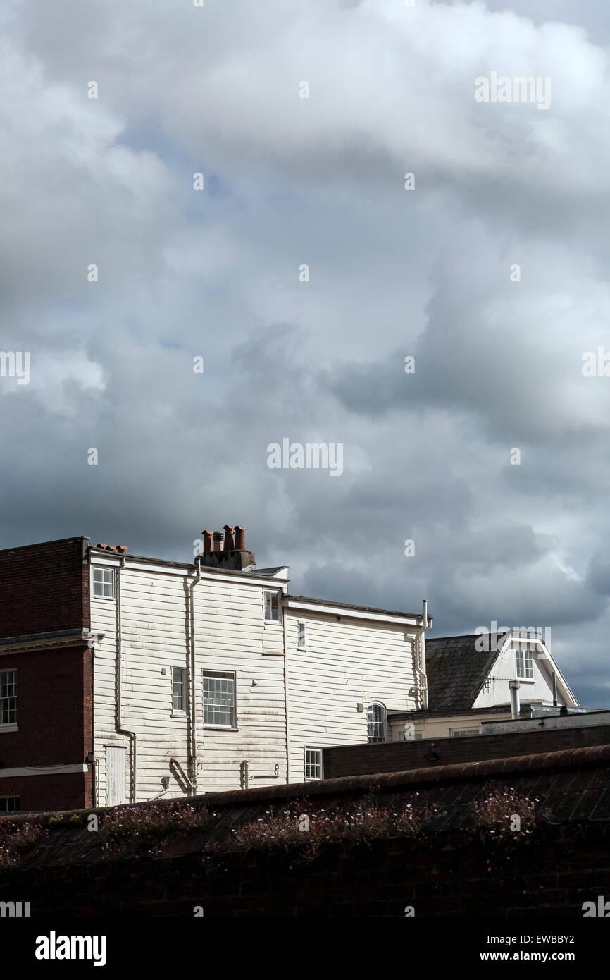 Wetterschenkel, schmutzig, westlichen, alt, Halle, grau, Fenster ...