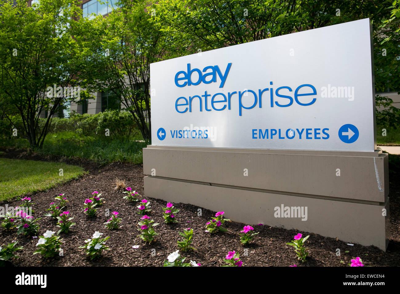 Ein Logo Zeichen Ausserhalb Der Zentrale Von Ebay Enterprise In King