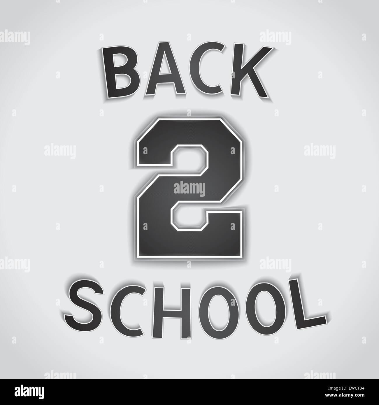 Zurück auf die Schulbank - Wortspiel design Plakat. Vector EPS 10. Stockbild