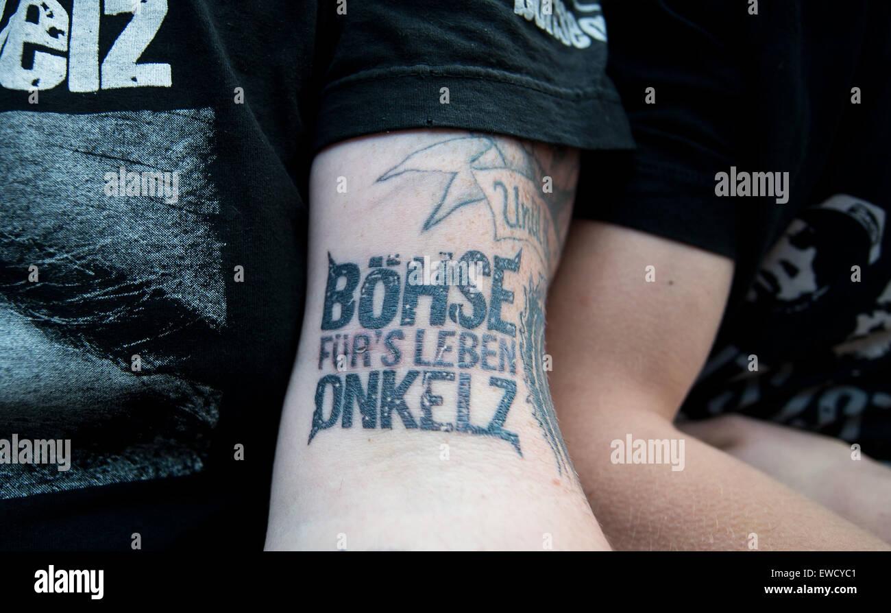 Hockenheim Deutschland 19 Juni 2015 Ein Fan Der Band Boehse