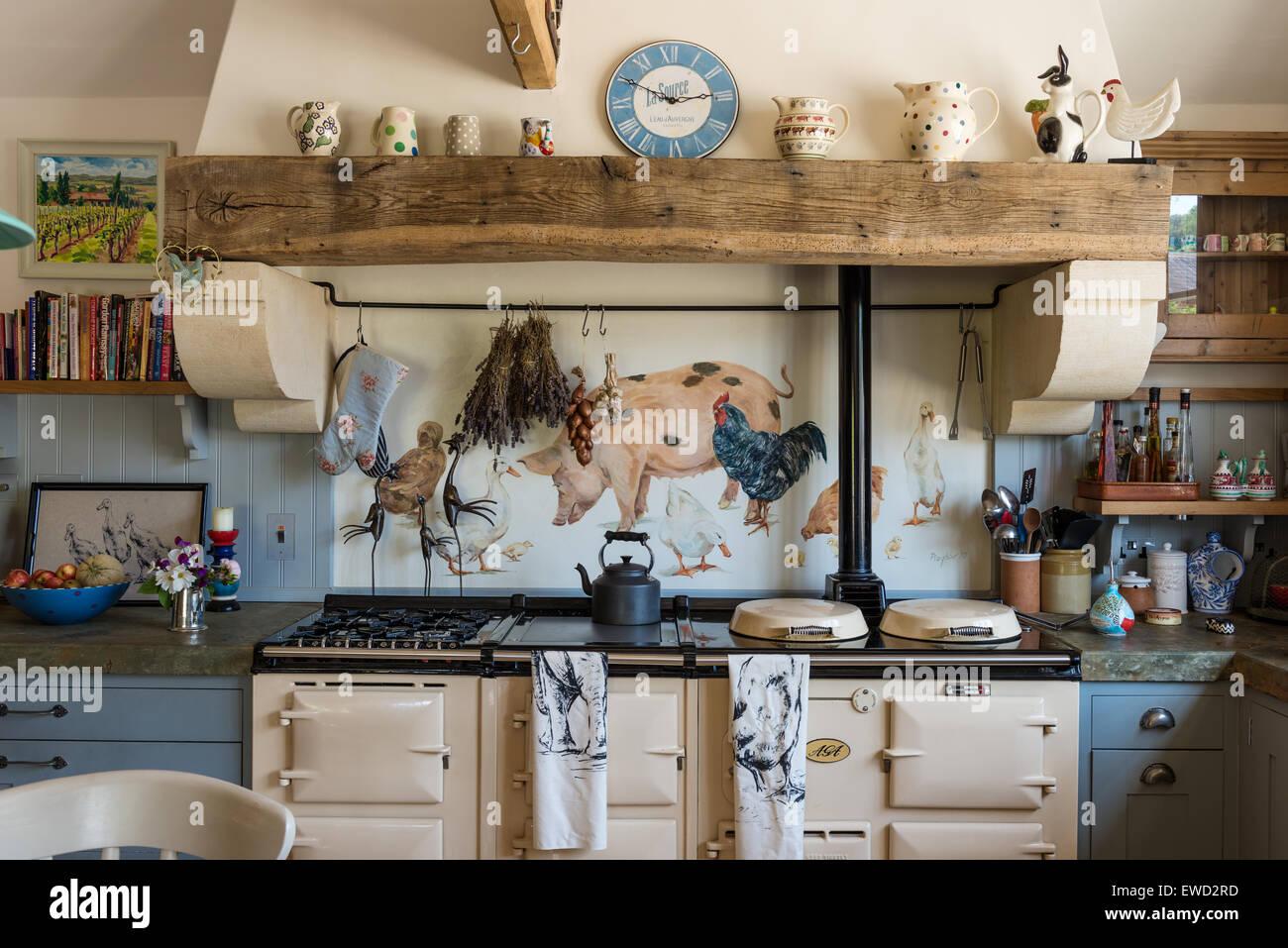 painted pig stockfotos painted pig bilder alamy. Black Bedroom Furniture Sets. Home Design Ideas