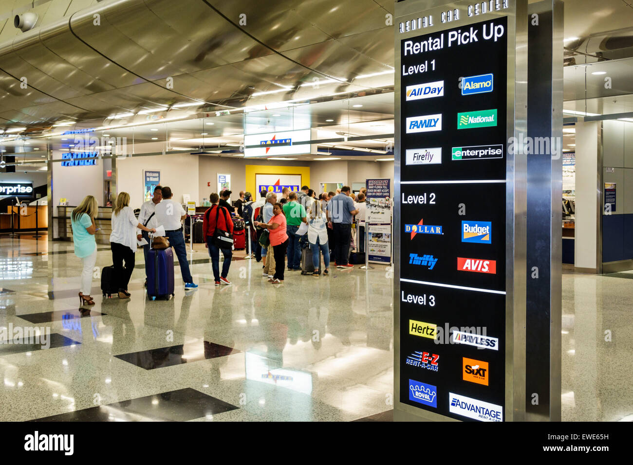 rental car center stockfotos & rental car center bilder - alamy