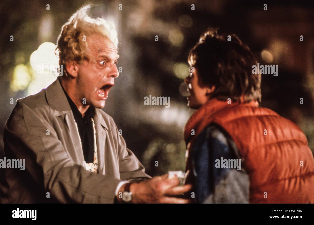 Zurück in die Zukunft, 1985 Stockbild