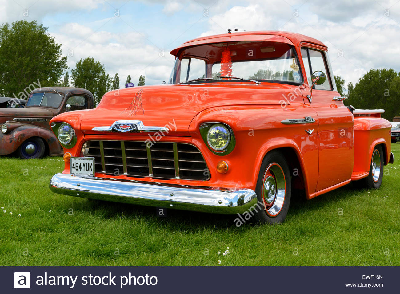 chevy pickup truck amerikanische auto show abrechnung northampton england uk stockfoto. Black Bedroom Furniture Sets. Home Design Ideas