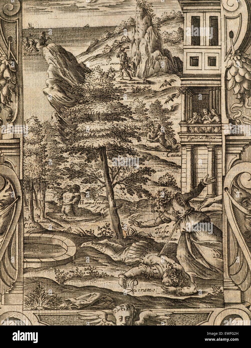 (Publius Ovidius Naso Ovid (43 V.chr.-17 N.chr.). lateinische Dichter. Metamorphosen 2-8 ad. Buch iv. kupferstich Stockfoto
