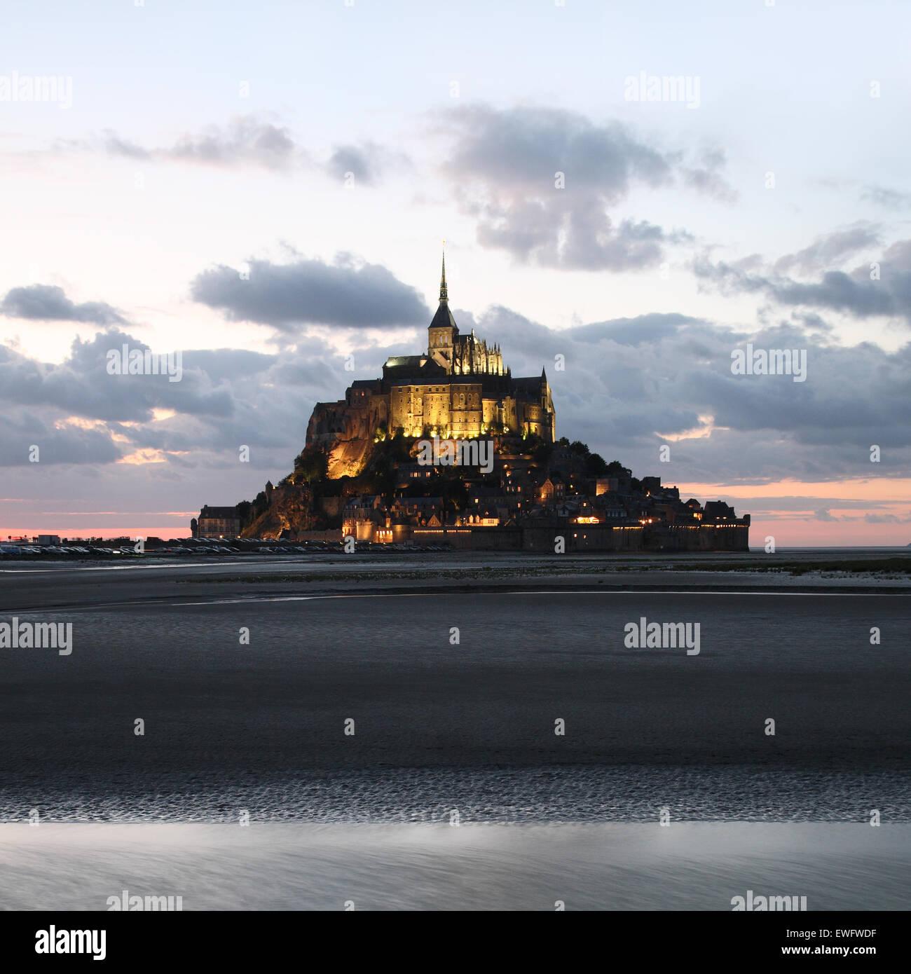 Le Mont Saint Michel, Normandie, Frankreich Stockbild