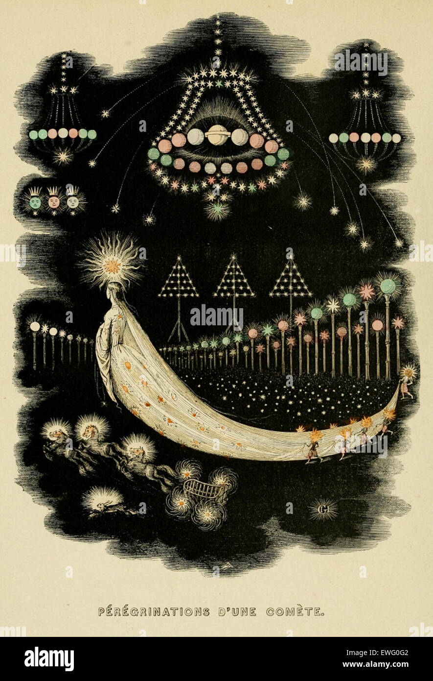 Bild von J J Grandville Un Autre Monde (1844) Stockbild