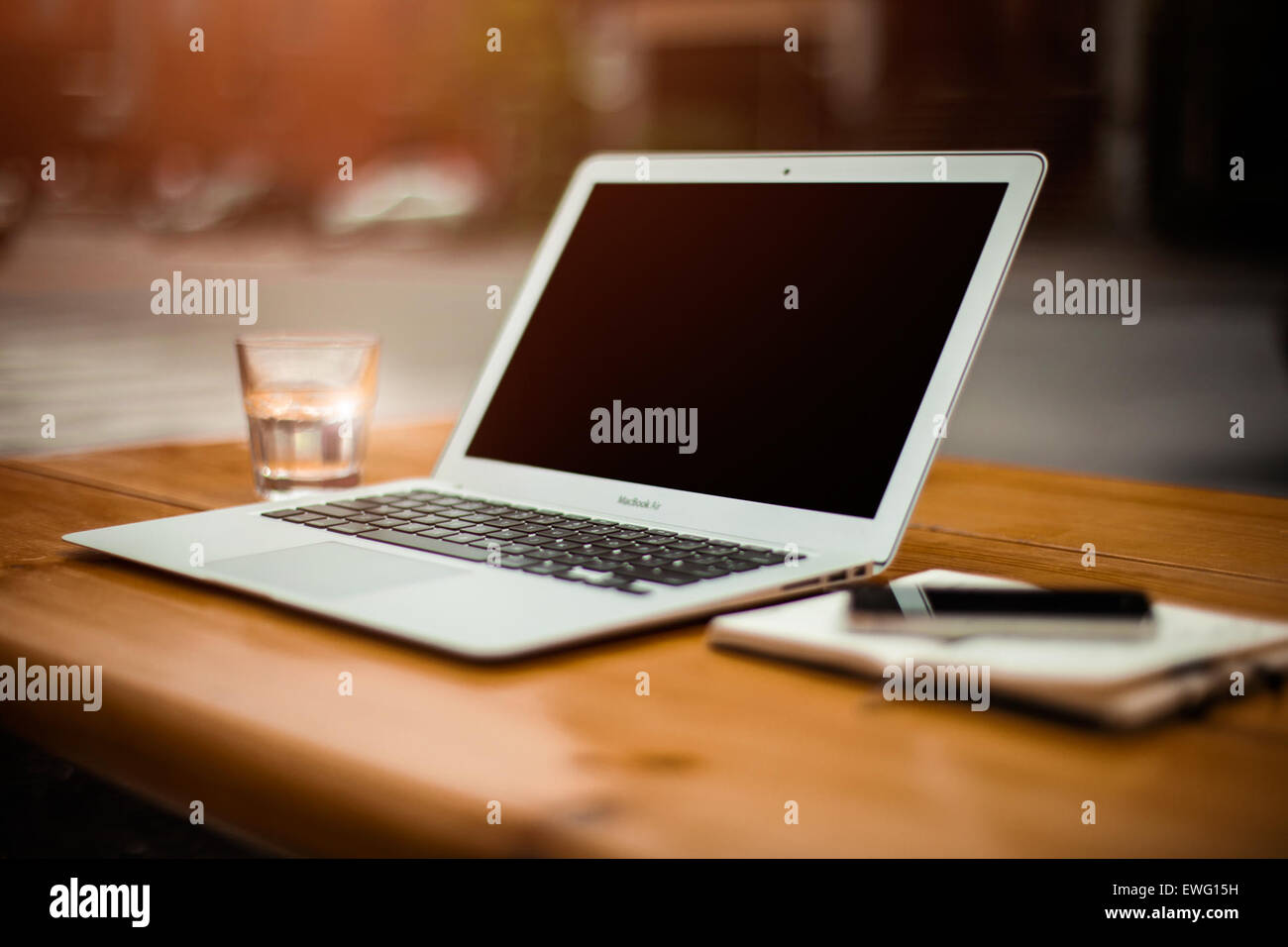 MacBook Air-Stillleben Stockbild