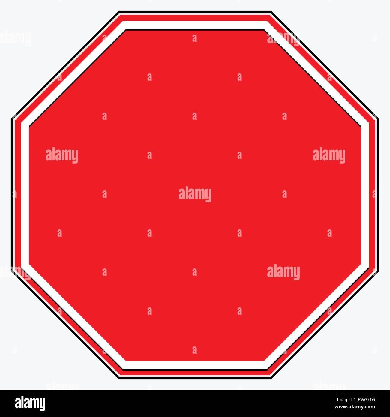 Leere Stop-Schild. Leeren roten achteckigen Verbot, Einschränkung ...