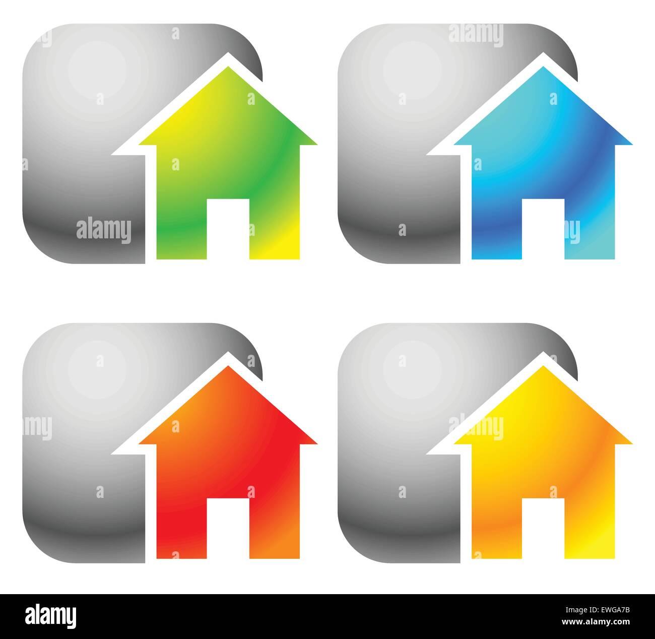 Symbole Für Haus Wohnung Miete Haus Homepage Gehäuse Konzepte