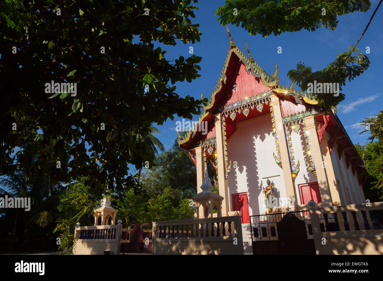 Wat Sema Mueang Tempel in der Provinz Nakhon Si Thammarat, Thailand. Stockfoto