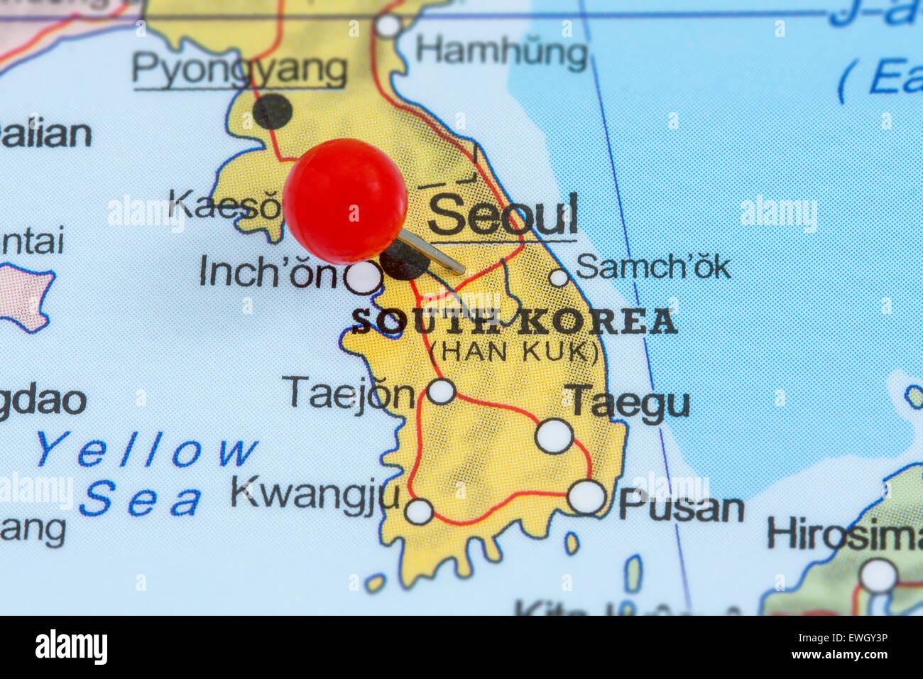 Südkorea Karte.Karte Von Korea Stockfotos Karte Von Korea Bilder Alamy