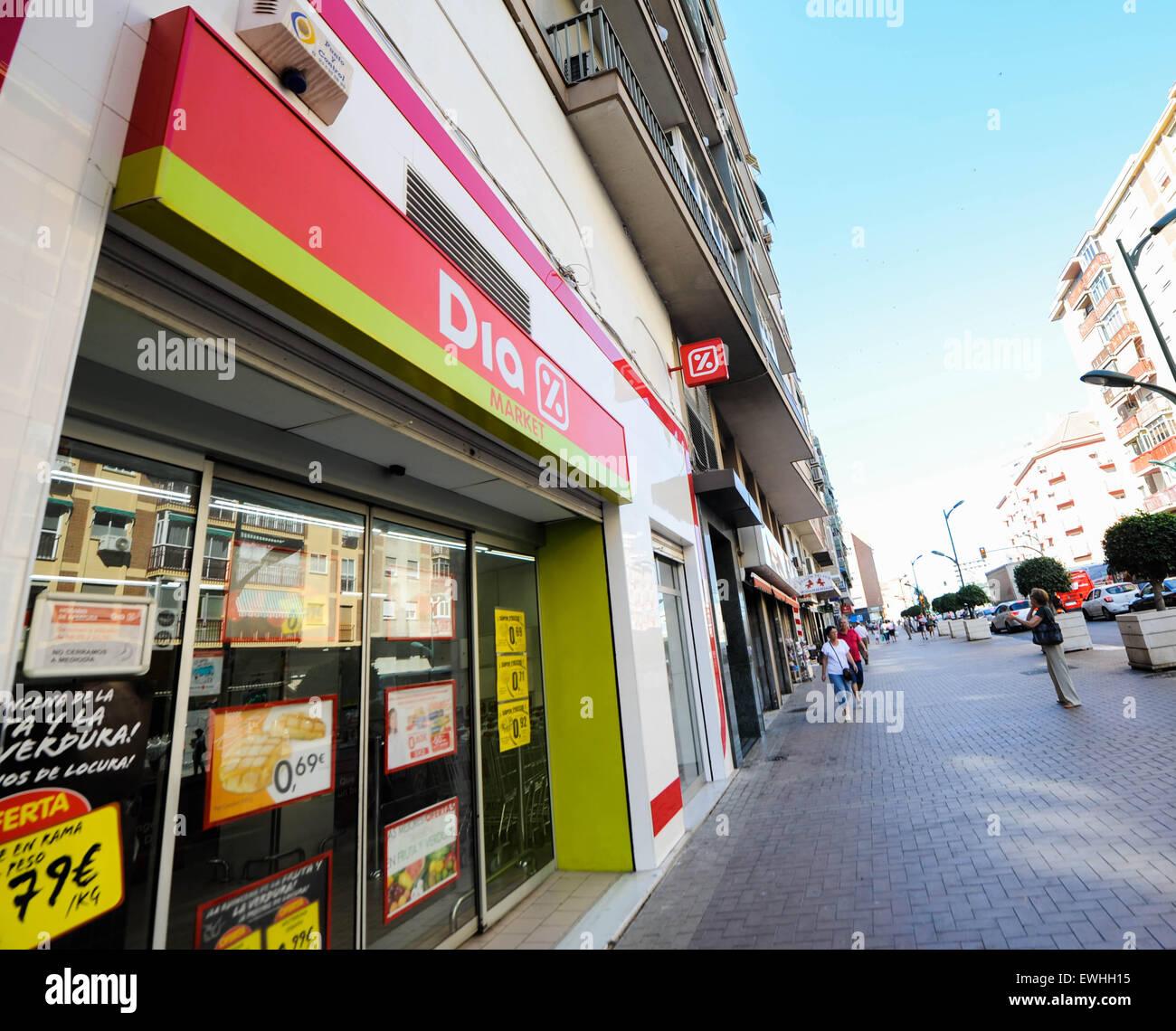 DIA-super-Markt Spanien. Stockbild