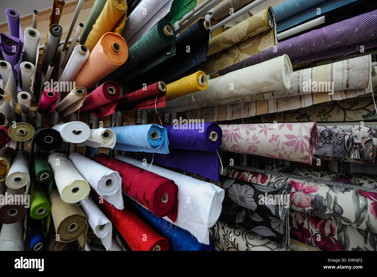 Einem Tuch Store In Der Alten Stadt Von Málaga Spanien Una Tienda