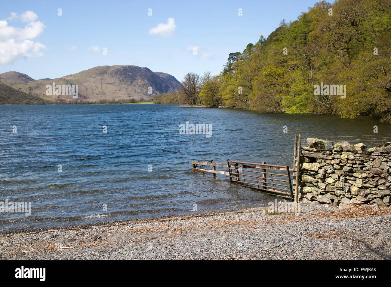 Landschaftsblick auf Lake Buttermere, Cumbria, England, UK Stockbild