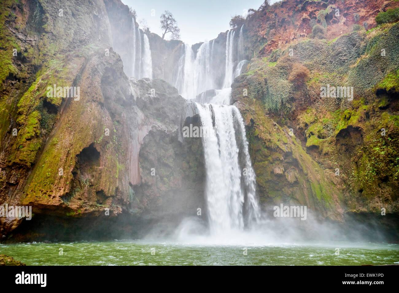 Ouzoud Wasserfälle, Beni Mellal, Marokko, Afrika Stockbild