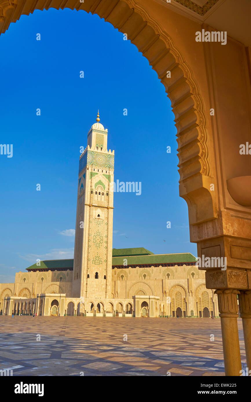 Hassan II Moschee, Casablanca, Marokko, Afrika Stockfoto