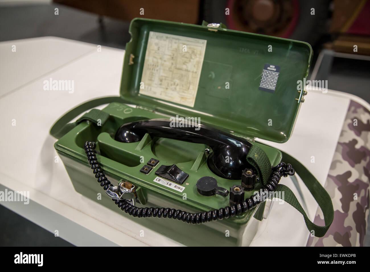 Feldtelefon, Zweiter Weltkrieg Stockbild