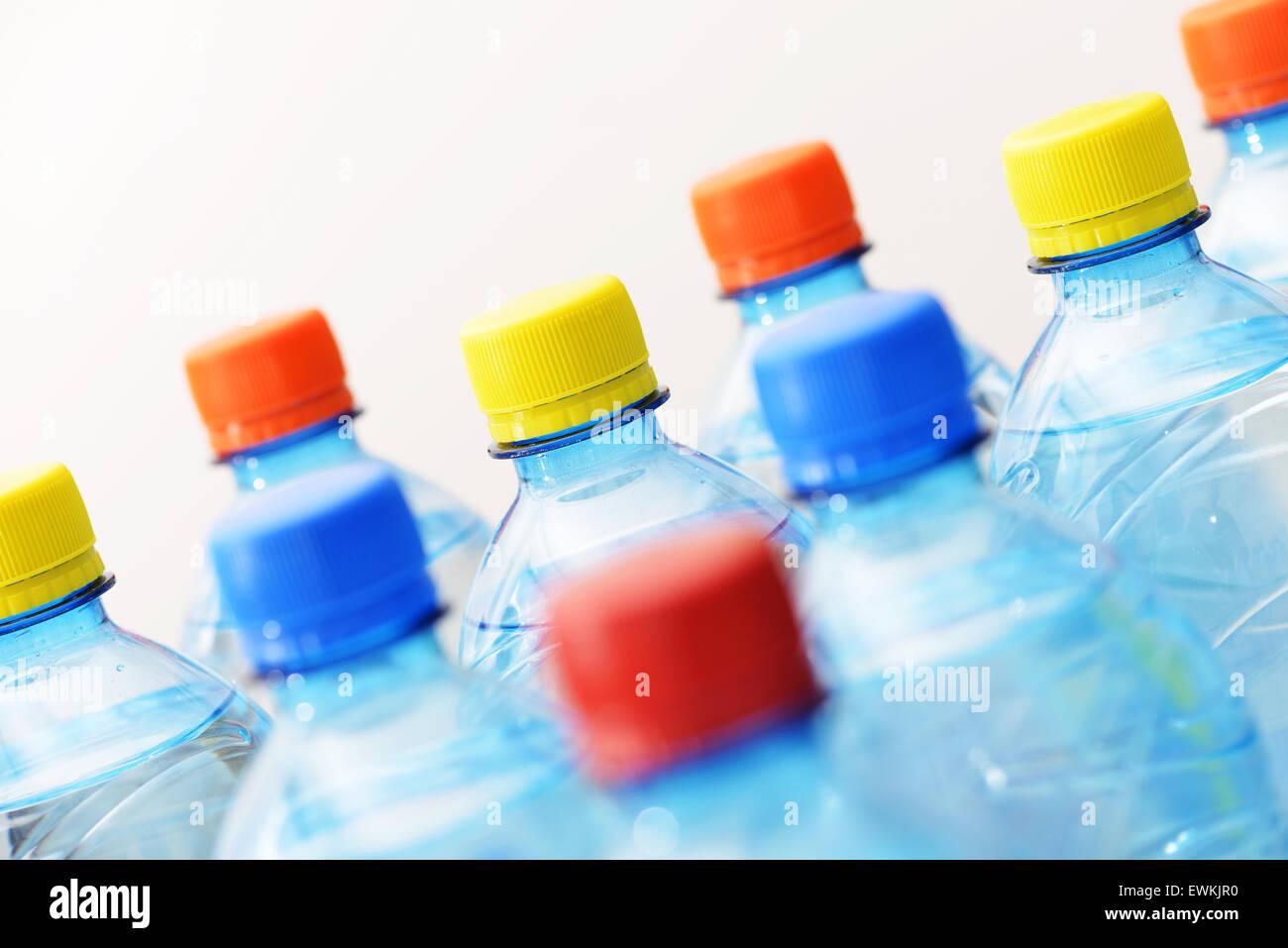 Kunststoff-Flaschen Stockbild