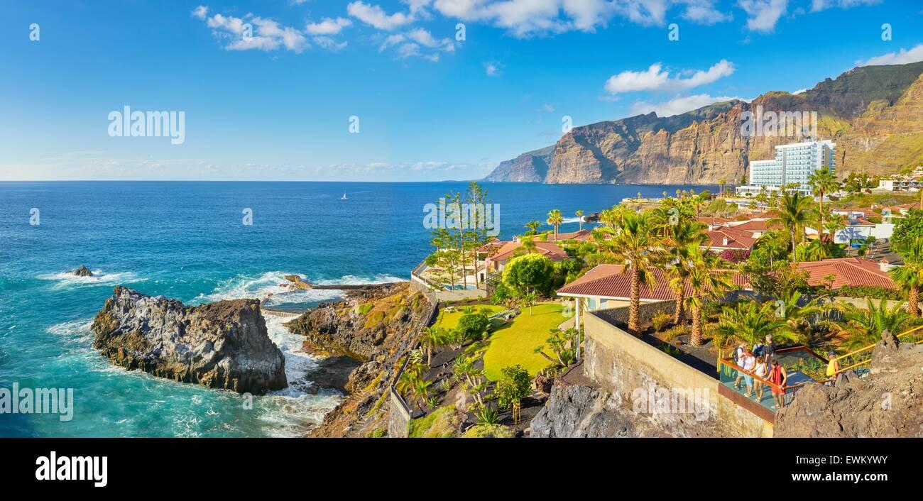 Teneriffa - Los Gigantes Klippen, Kanarische Inseln, Spanien Stockbild