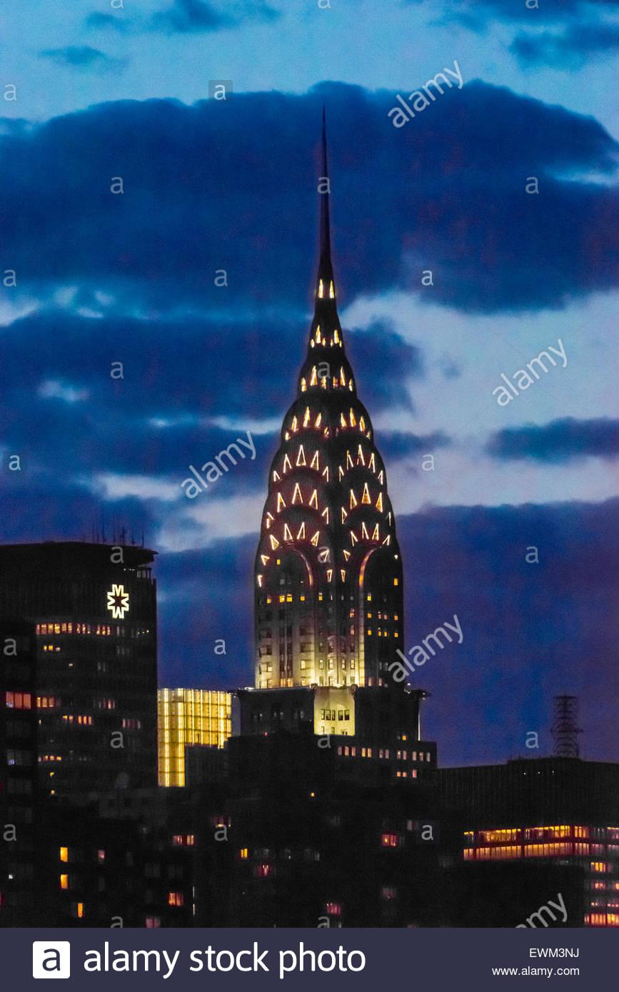 Die berühmten Art-Deco-Chrysler Building, New York New York USA. Stockbild
