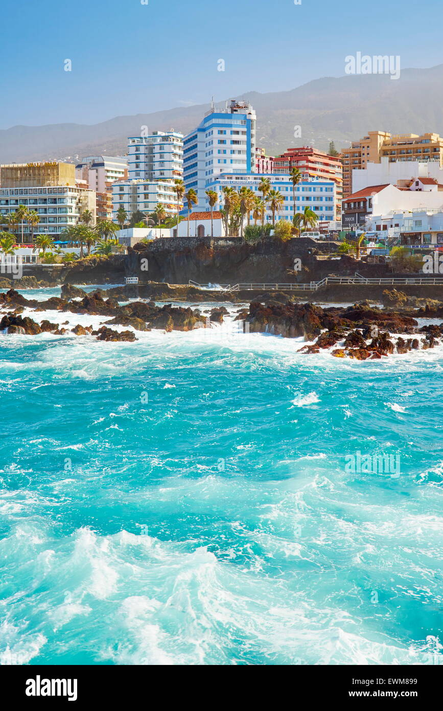 Puerto De La Cruz, Teneriffa, Kanarische Inseln, Spanien Stockbild