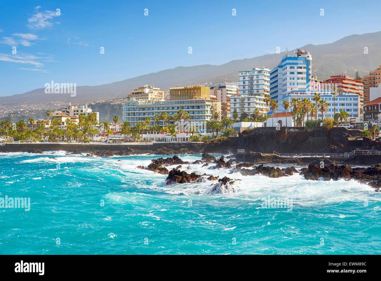 Puerto De La Cruz, Teneriffa, Kanarische Inseln, Spanien Stockfoto