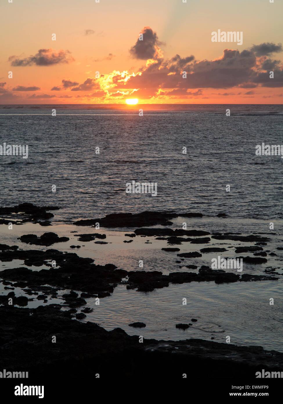 Blue Bay Ile Maurice Indischer Ozean Mascaregnes Mauritius Ocean Indien Tropen Tropeninsel Stockbild