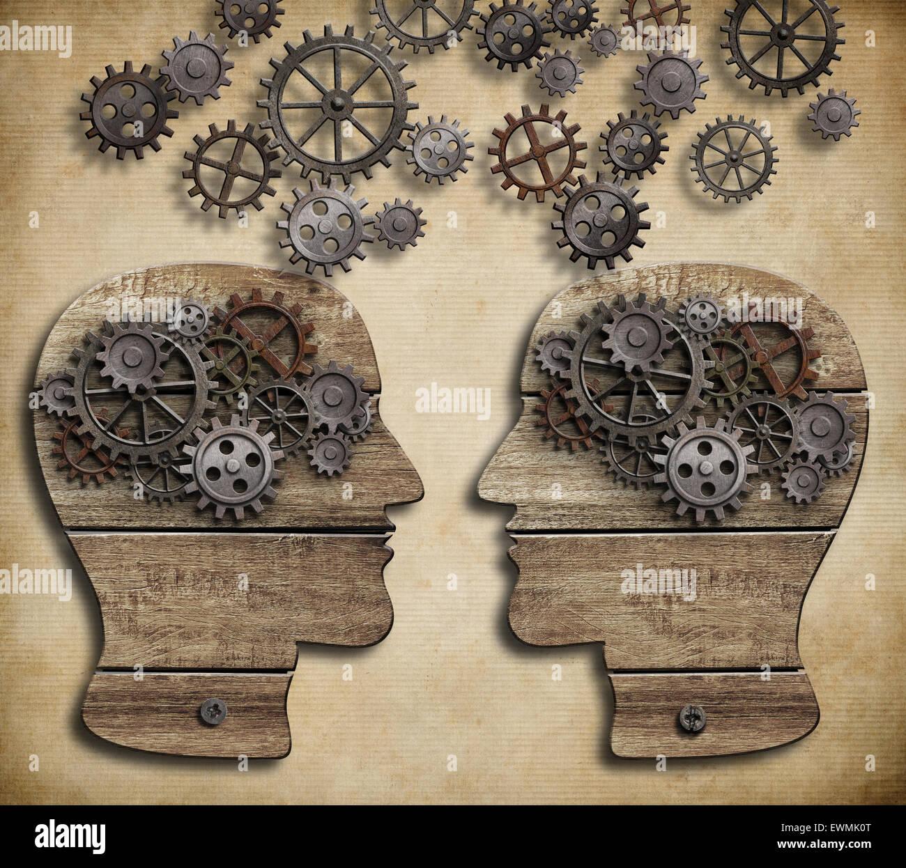 Konzept der Kommunikation, Dialog, Austausch von Informationen Stockbild