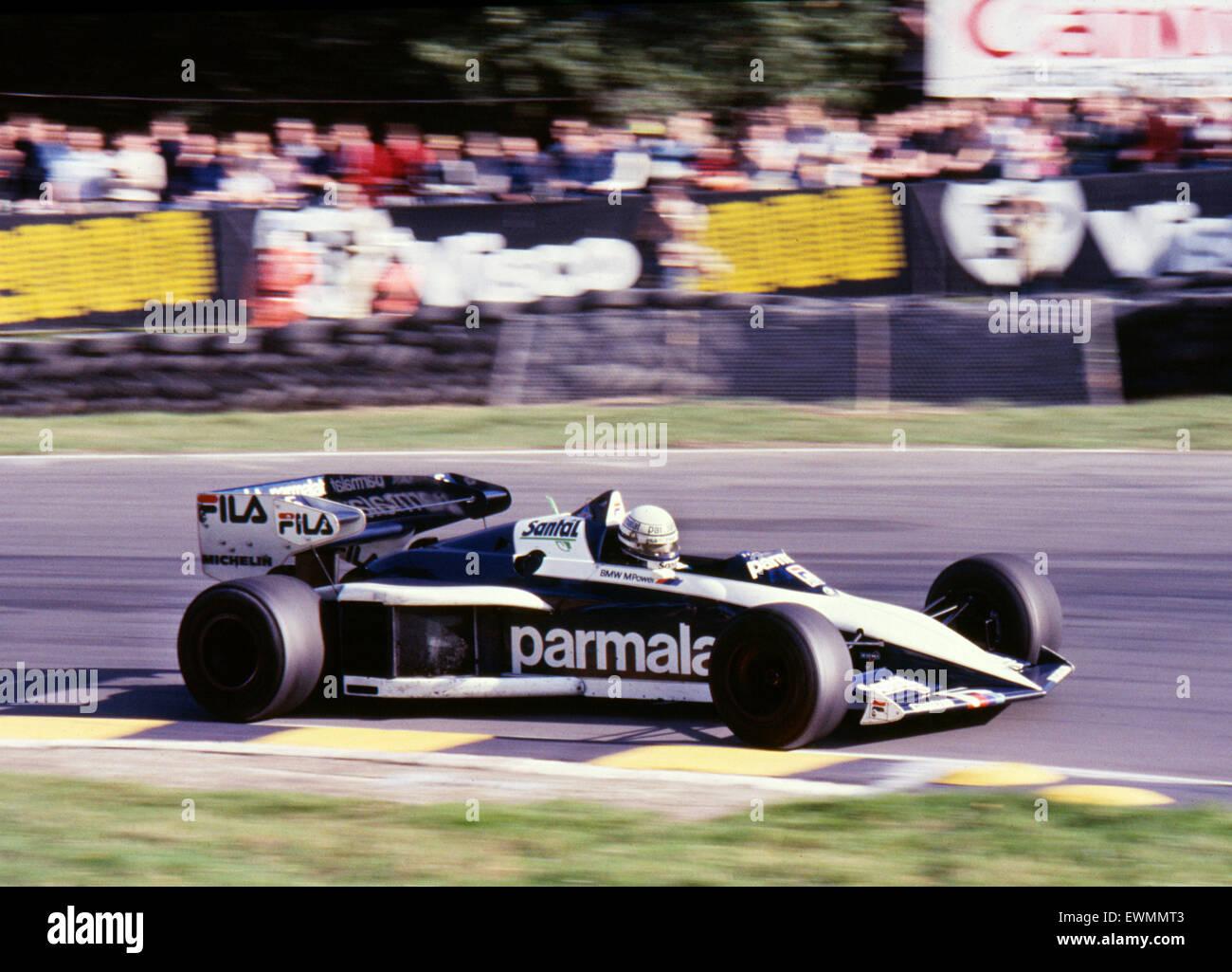 Brabham BT52, Ricardo Patrese. 1983-GP von Europa-Marken Luke, 25.09.1983. Stockbild