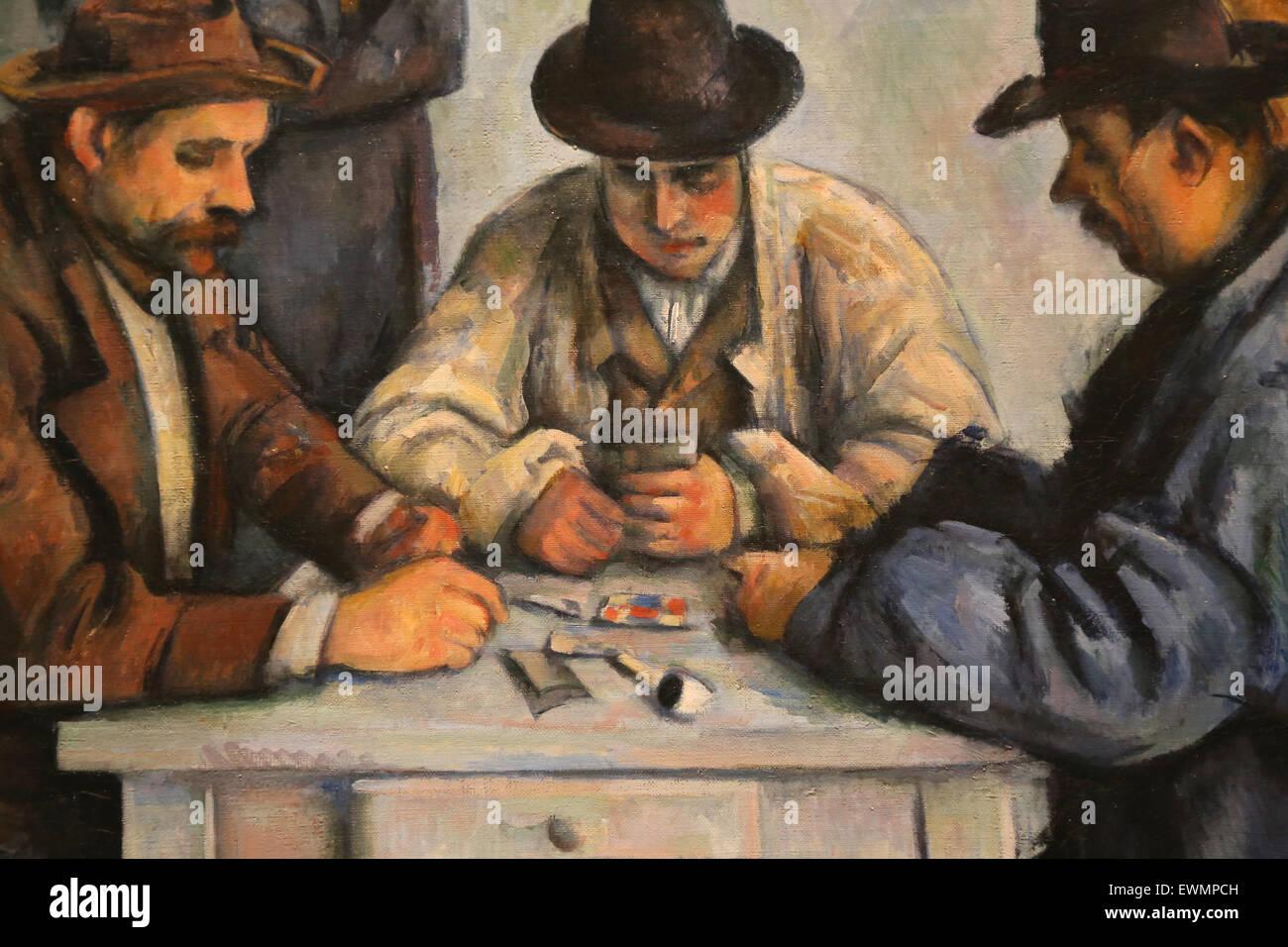 Paul Cézanne (1839-1906).  Französischer Maler. Die Kartenspieler, 1880-92. Öl auf Leinwand. Metropolitan Stockbild