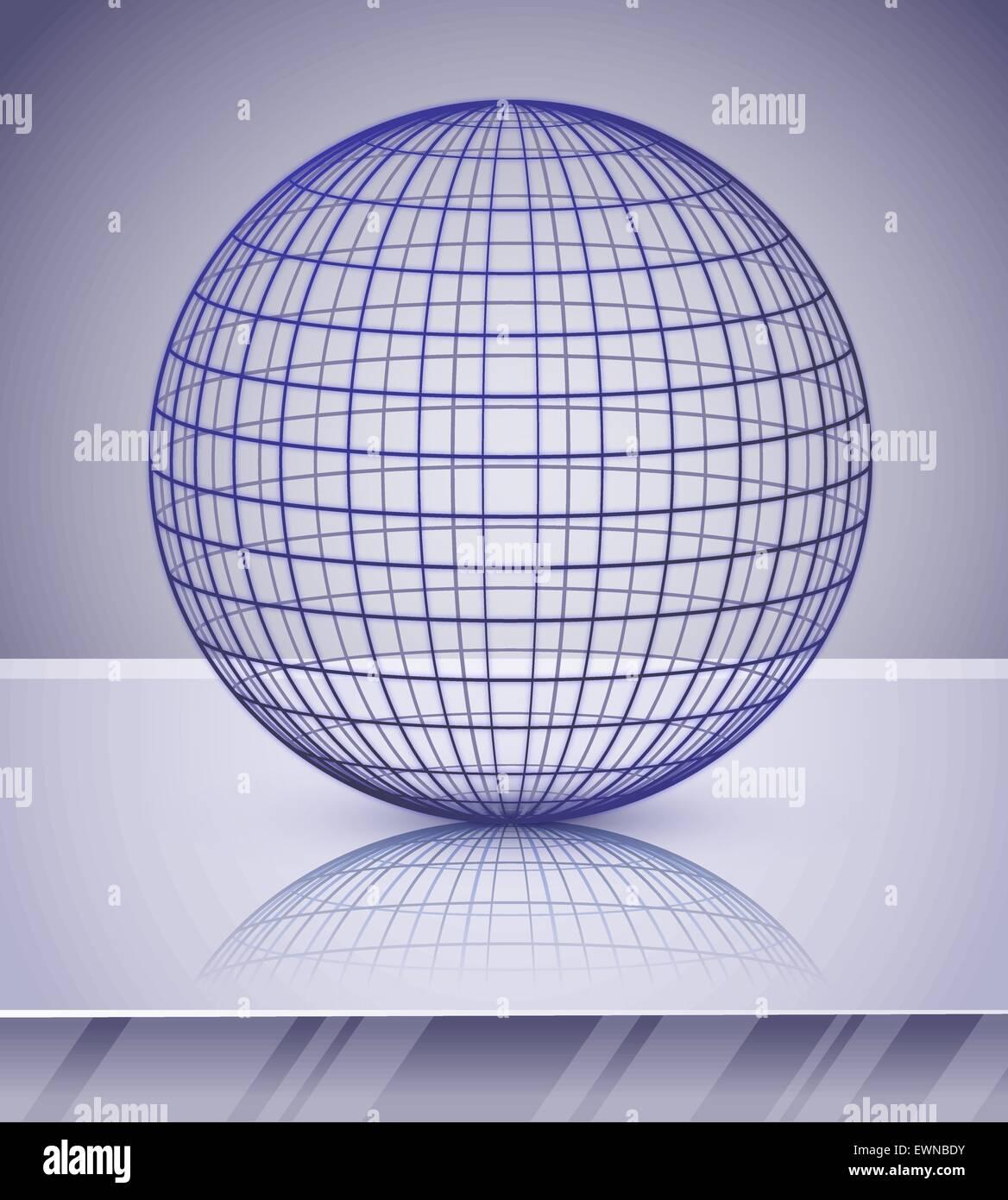 Großartig Draht Globus Vektor Zeitgenössisch - Elektrische ...