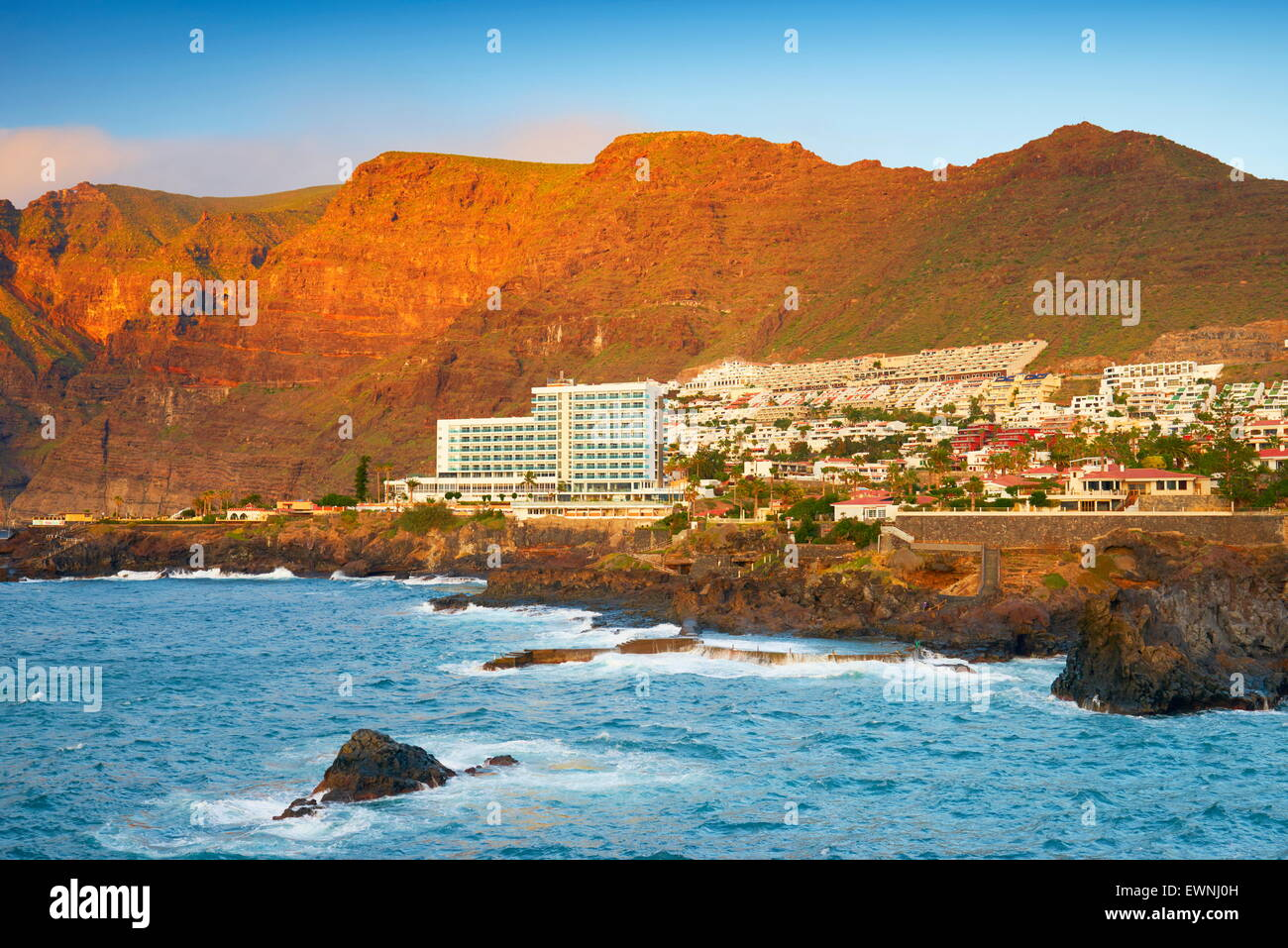 Los Gigantes Klippen, Teneriffa, Kanarische Inseln, Spanien Stockbild