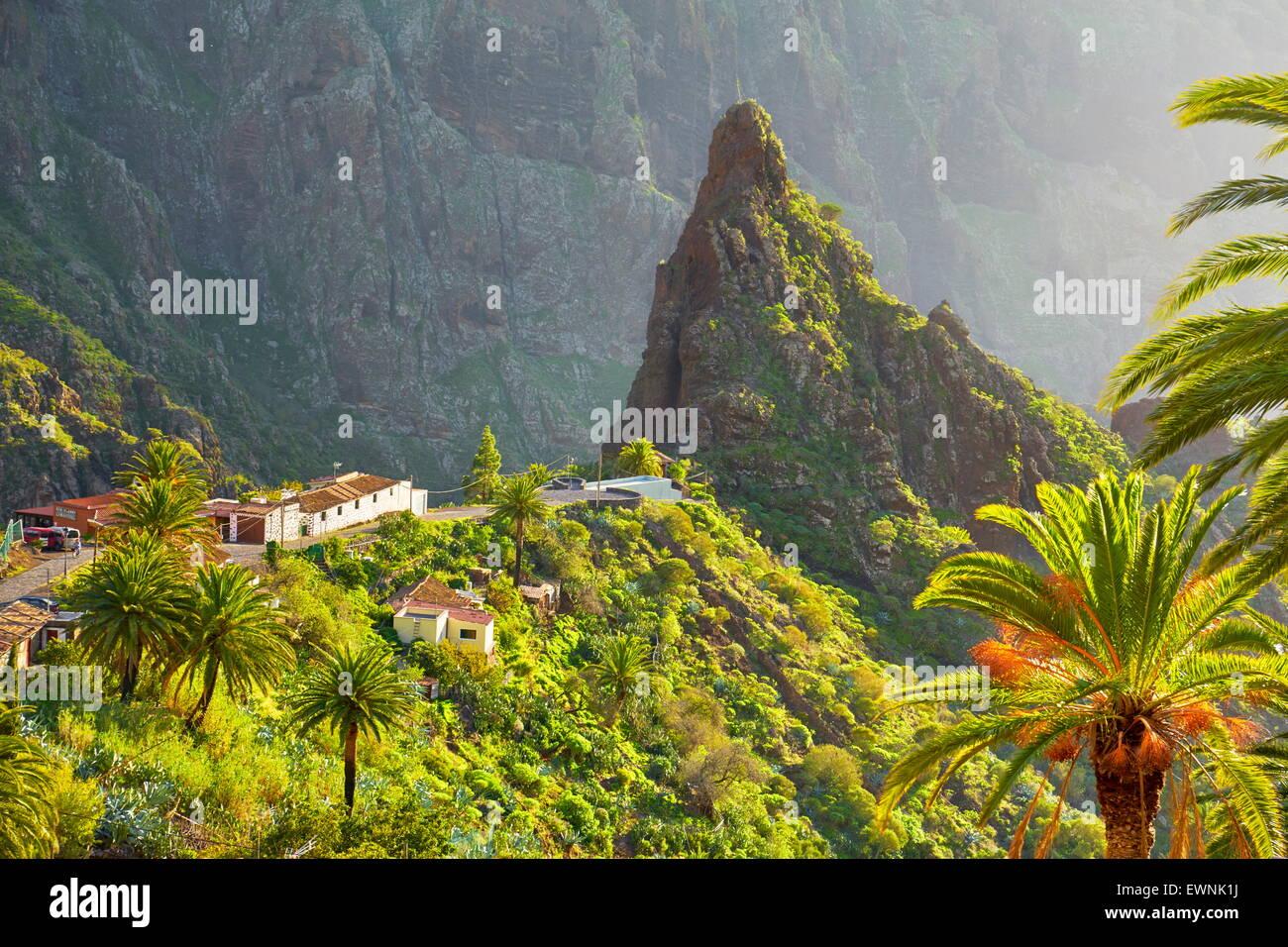 Dorf Masca, Teneriffa, Kanarische Inseln, Spanien Stockbild