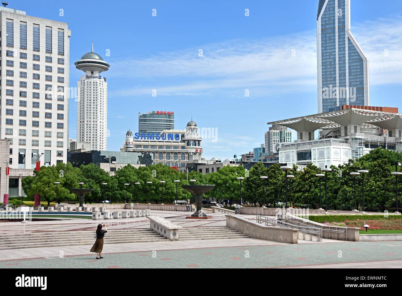 Shanghai Urban Planning Exhibition Renmin Park (Volksplatz) Viertel Huangpu China chinesische Stockbild